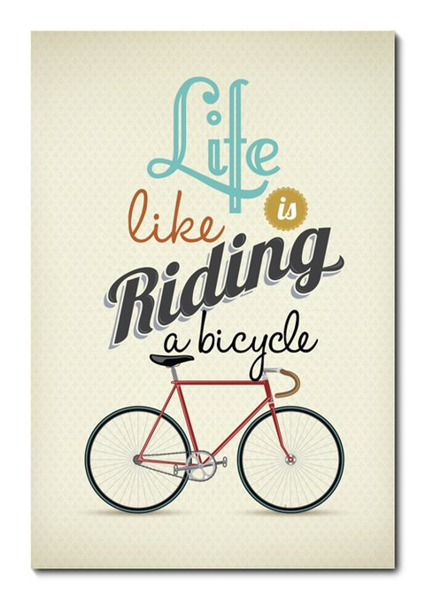 Placa Decorativa - Riding a Bicycle - 0742plmk