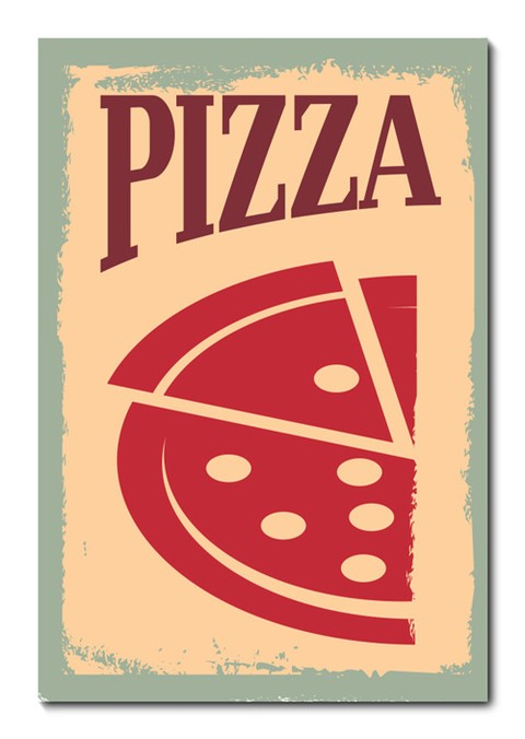 Placa Decorativa - Pizza - 0745plmk