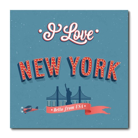 Placa Decorativa - New York - 0748plmk