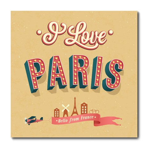 Placa Decorativa - Paris - 0749plmk
