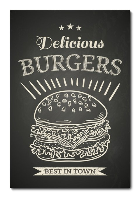 Placa Decorativa - Burgers - 0757plmk