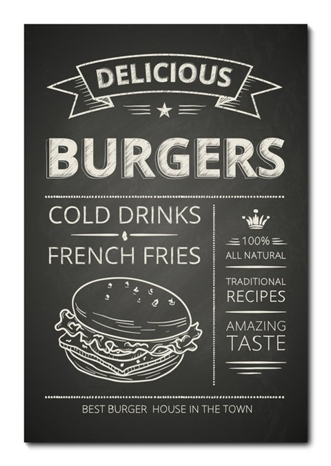 Placa Decorativa - Burgers - 0758plmk