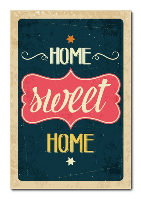 Placa Decorativa - Home Sweet Home  - 0764plmk