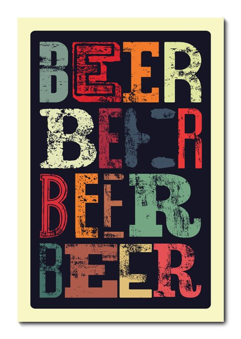 Placa Decorativa - Beer - 0766plmk