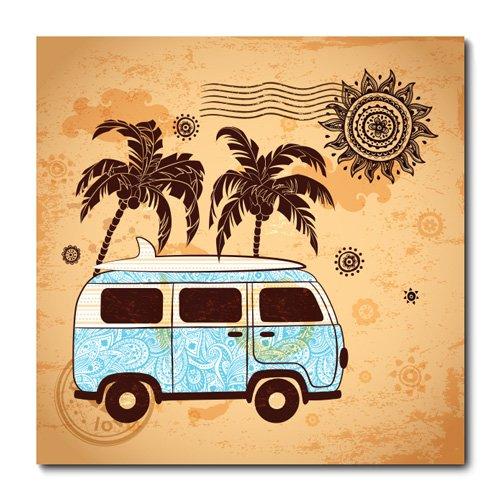 Placa Decorativa - Kombi - 0780plmk