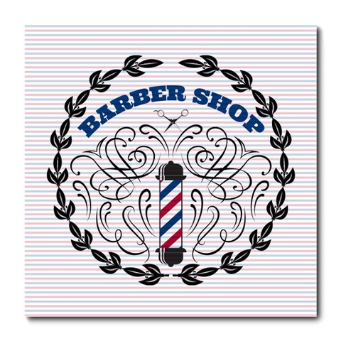 Placa Decorativa - Barber Shop - Barbearia - 0828plmk
