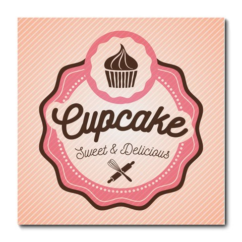 Placa Decorativa - Cupcakes - 0829plmk