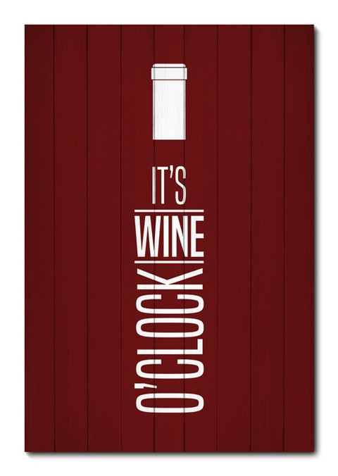 Placa Decorativa - It's Wine O'Clock - 0849plmk
