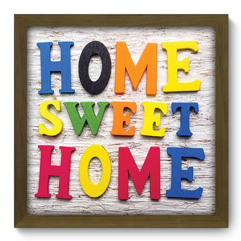 Quadro Decorativo - Home Sweet Home - 085qdrm