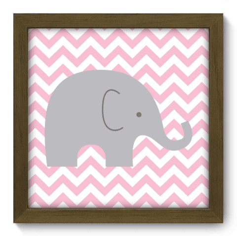 Quadro Decorativo - Elefante Chevron - 093qdbm