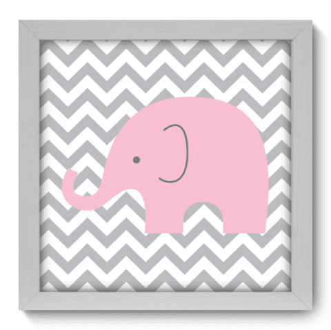 Quadro Decorativo - Elefante Chevron - 094qdbb
