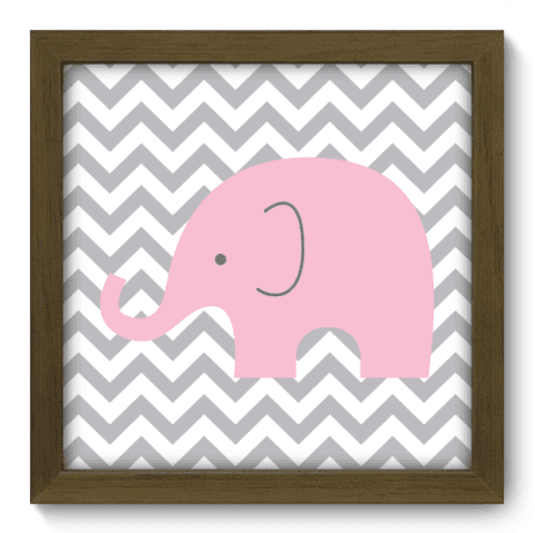Quadro Decorativo - Elefante Chevron - 094qdbm