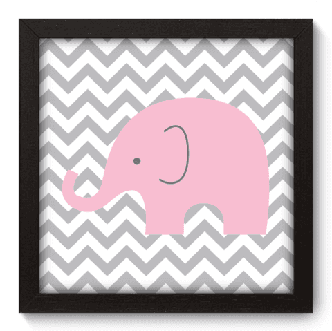 Quadro Decorativo - Elefante Chevron - 094qdbp