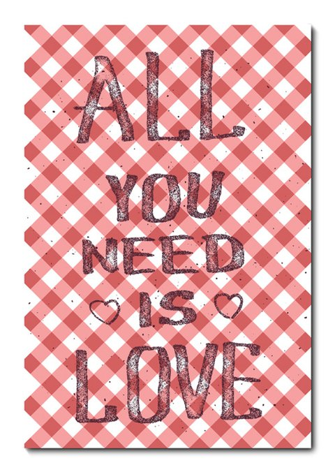 Placa Decorativa - All You Need Is Love  - 0956plmk