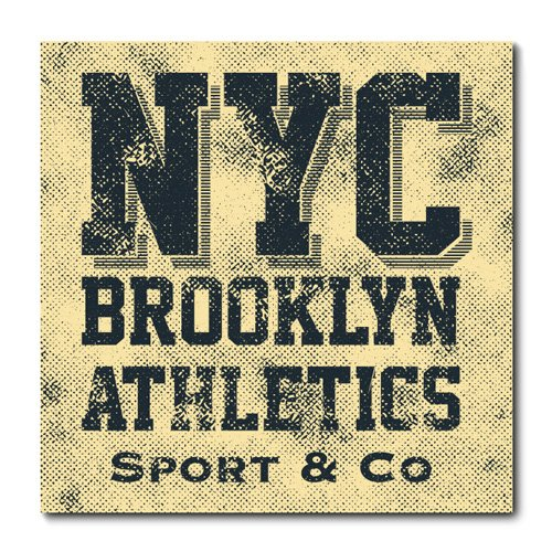 Placa Decorativa - Brooklyn Athletics - 0957plmk