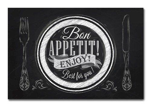 Placa Decorativa - Bon Appetit - 0960plmk