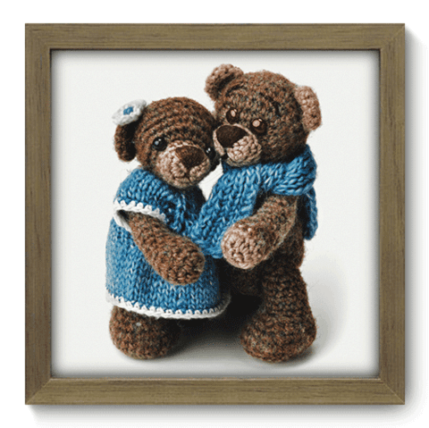 Quadro Decorativo - Teddy Bear - 096qdbm
