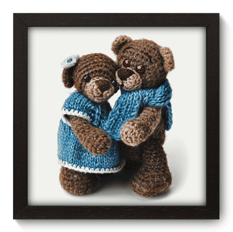 Quadro Decorativo - Teddy Bear - 096qdbp