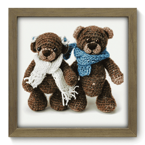 Quadro Decorativo - Teddy Bear - 097qdbm