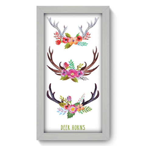 Quadro Decorativo - Deer Horns - 108qdsb
