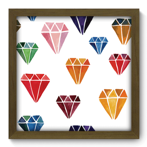 Quadro Decorativo - Diamantes - 114qddm