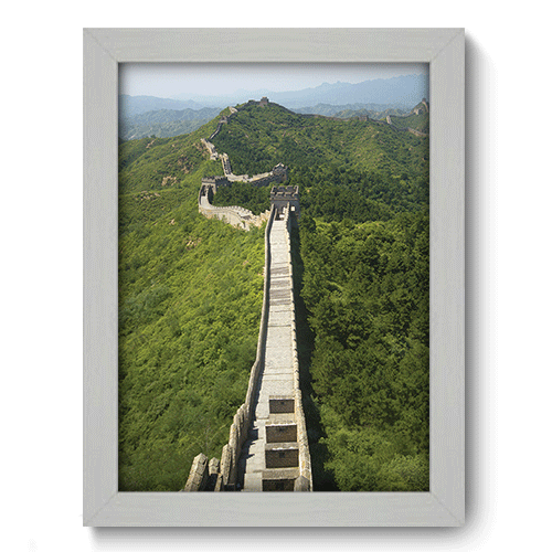 Quadro Decorativo - Muralha da China - 131qdmb