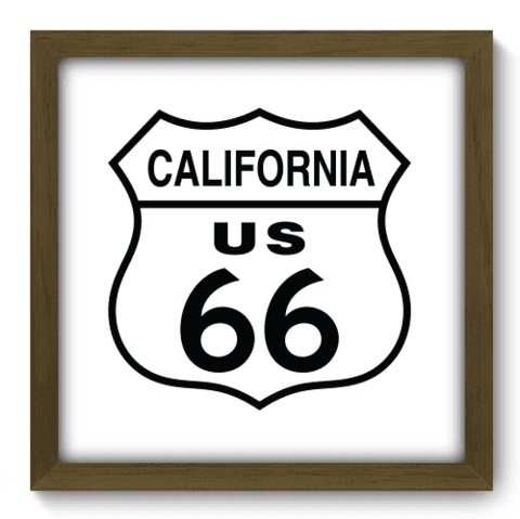 Quadro Decorativo - Route 66 - 135qdvm