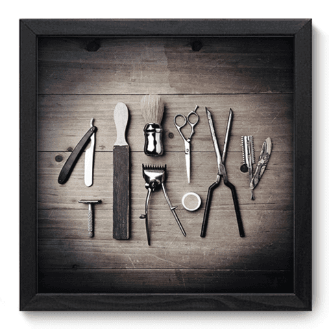 Quadro Decorativo - Barbearia - 152qddp