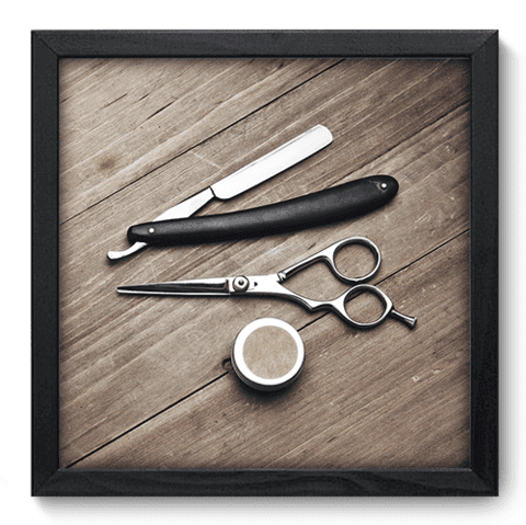 Quadro Decorativo - Barbearia - 153qddp