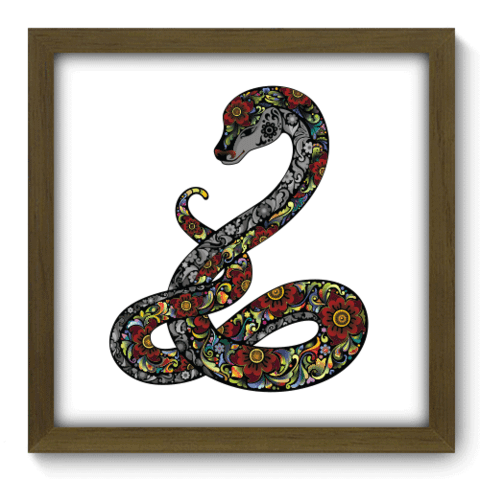 Quadro Decorativo - Cobra - 163qdsm