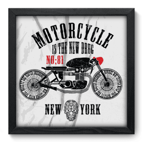 Quadro Decorativo - Motorcycle - 192qddp