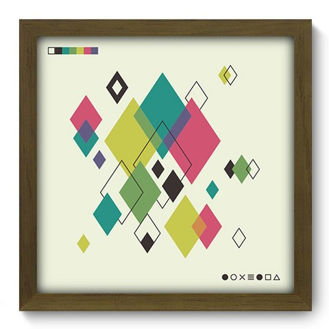 Quadro Decorativo - Abstrato - 247qdam