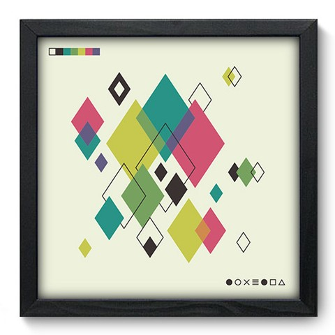 Quadro Decorativo - Abstrato - 247qdap