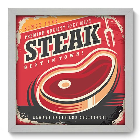 Quadro Decorativo - Steak - 356qdcb