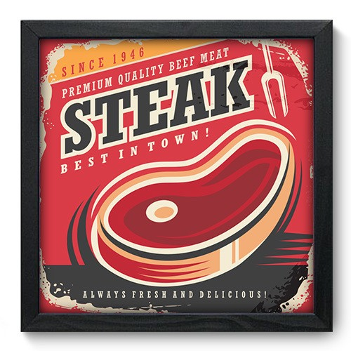 Quadro Decorativo - Steak - 356qdcp