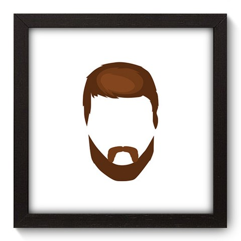 Quadro Decorativo - Barba - 382qddp
