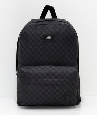MOCHILA VANS OLD SKOOL II BLACK CHARCOAL
