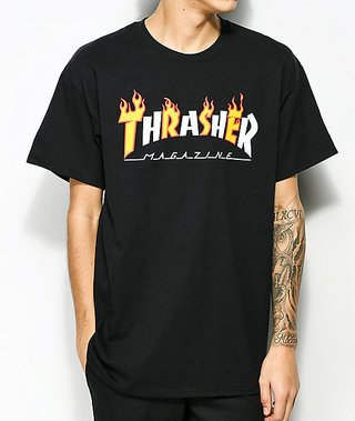 REMERA THRASHER MAG FLAMES