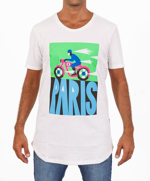 Remera Lungo PARIS Blanca en internet