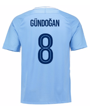 Camiseta Manchester City 17/18 Local Gundogan#8 PRE-ORDEN