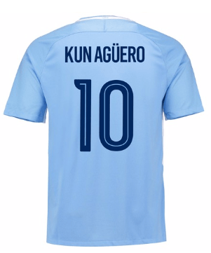 Camiseta Manchester City 17/18 Local Kun Aguero#10 PRE-ORDEN