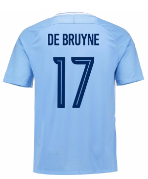 Camiseta Manchester City 17/18 Local De Bruyne#17 PRE-ORDEN