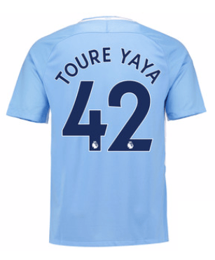 Camiseta Manchester City 17/18 Local Toure Yaya#42 PRE-ORDEN