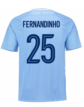 Camiseta Manchester City 17/18 Local Fernandinho#25 PRE-ORDEN