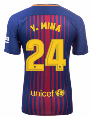 Camiseta FC Barcelona Local YERRY MINA Entrega inmediata