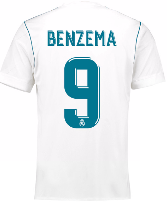 Camiseta Real Madrid 17/18 Local Benzema PRE-ORDEN