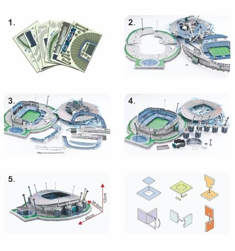 Estadio Rompecabezas 3D Ethiad (Entrega solo en Colombia) on internet