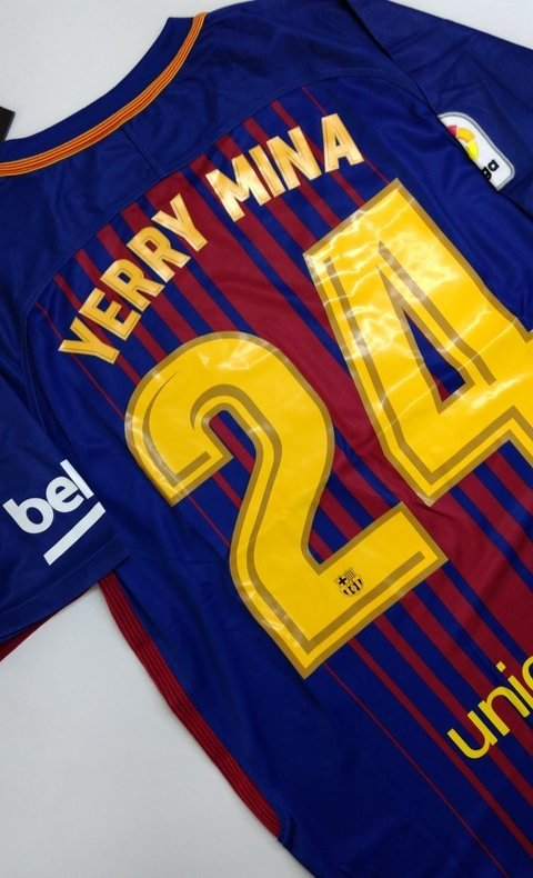 Camiseta FC Barcelona Local YERRY MINA Entrega inmediata on internet