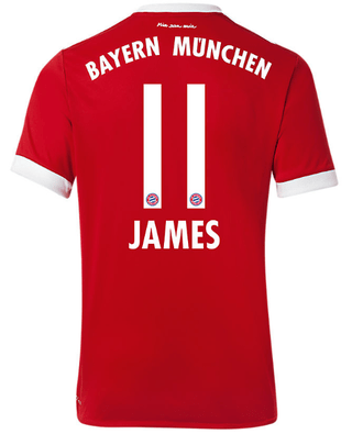 Camiseta Bayern Munchen 17/18 Local JAMES PRE-ORDEN