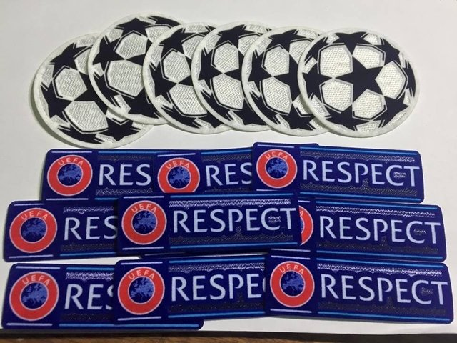 Parches Champions  (Respect + Balón)